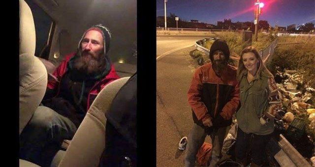 Otobandaki evsiz adam genç kadına 'arabana bin ve kapıları kitle'dedi ve  dakikalar sonra!